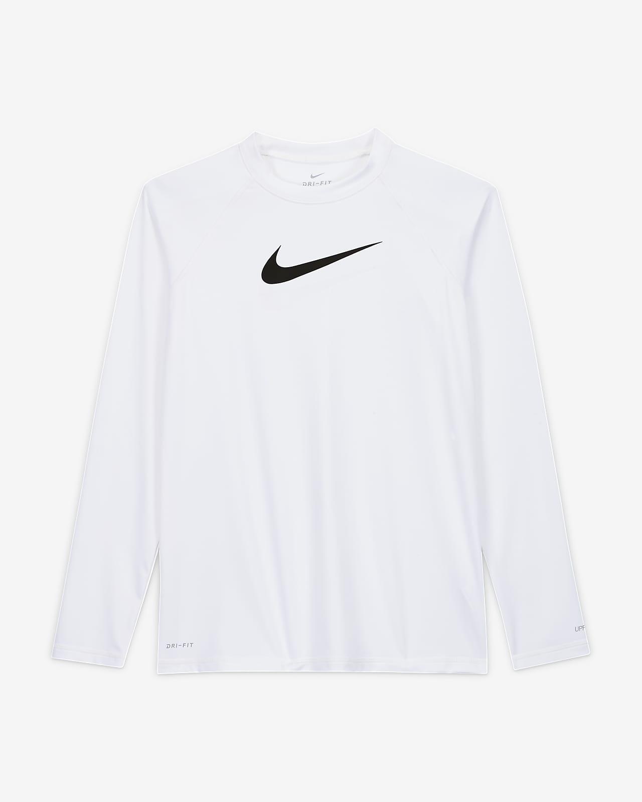 Nike Solid Logo Women's Long-Sleeve Hydroguard Swim Shirt