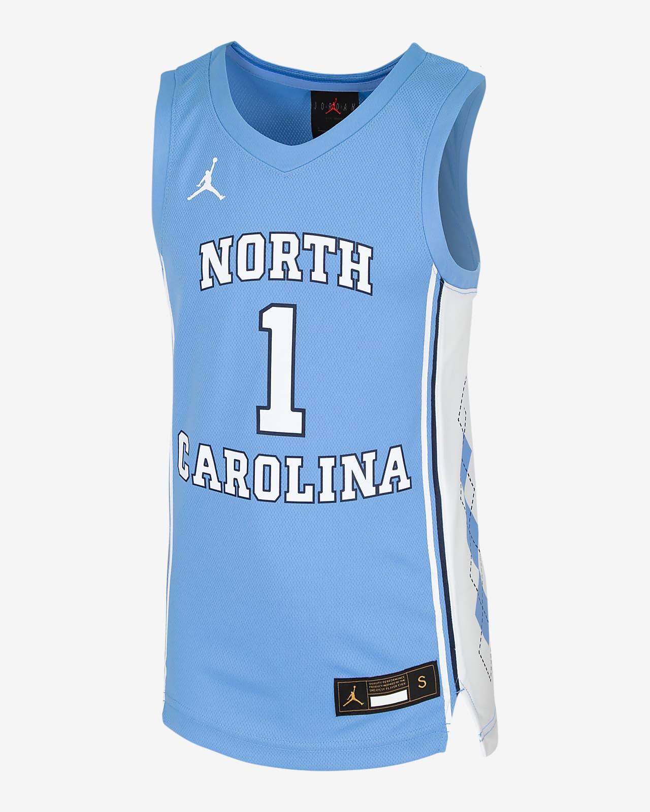 Camiseta de baloncesto para niños talla grande Nike College (UNC)