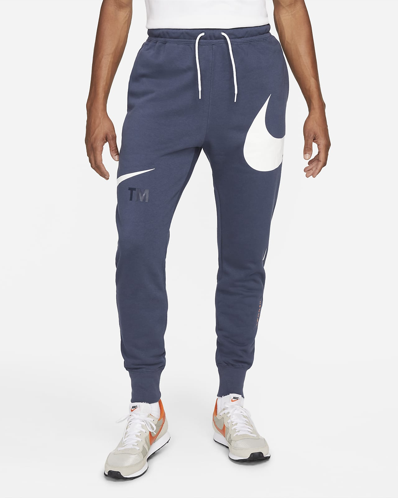 Nike Sportswear Swoosh Men's Semi-Brushed-Back Trousers