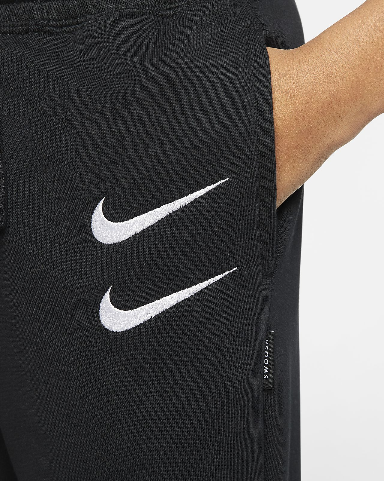 Pantaloni in French Terry Nike Sportswear Swoosh Ragazzi