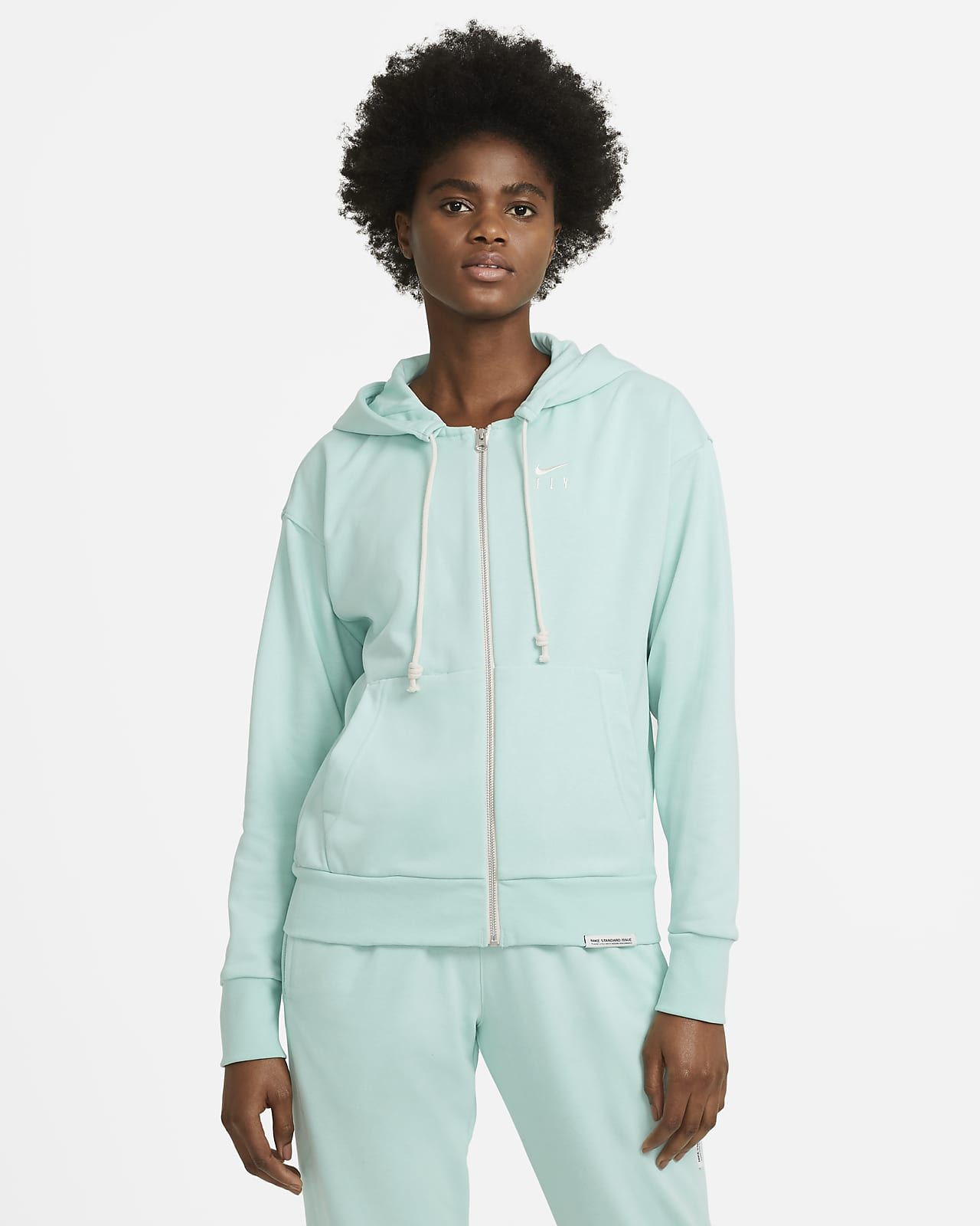 Sweat à capuche de basketball à zip Nike Swoosh Fly Standard Issue pour Femme