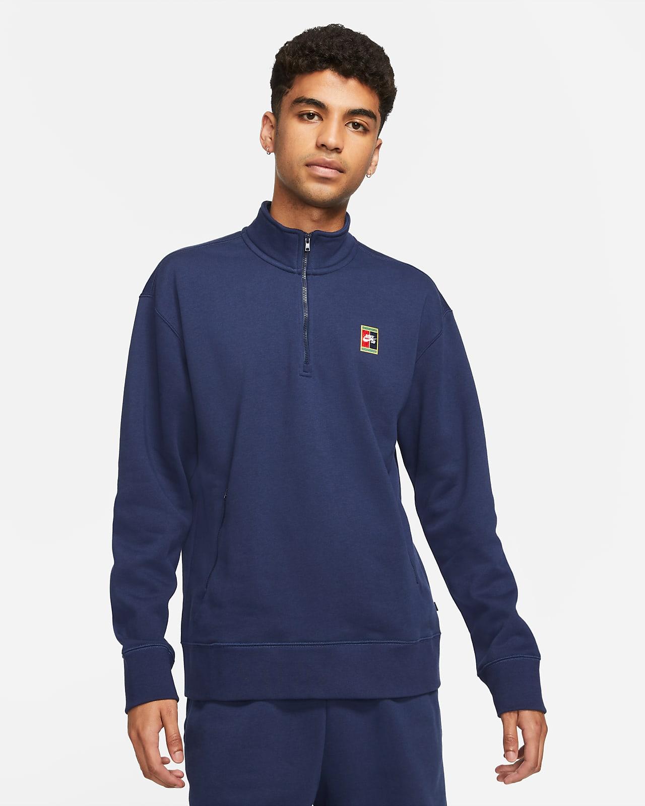 Camiseta de skateboarding con gráfico y medio cierre Nike SB