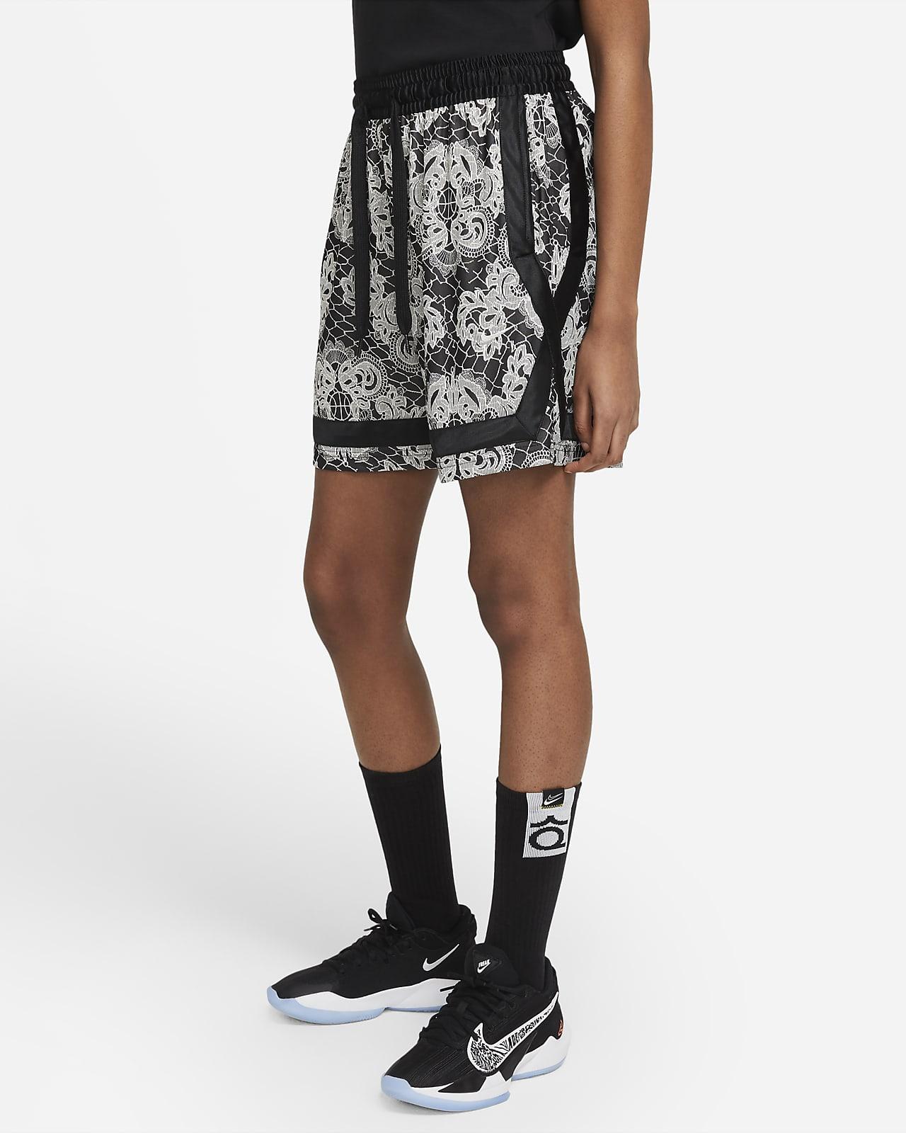 Shorts de básquetbol estampados para mujer Nike Fly Crossover