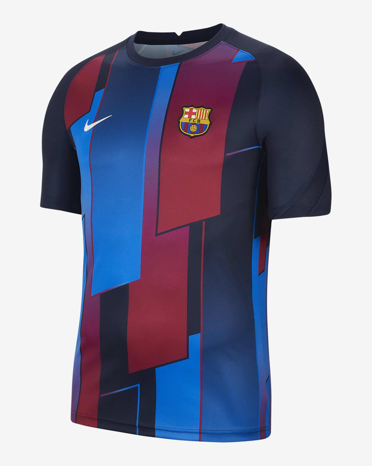 FC Barcelona Kısa Kollu Erkek Maç Öncesi Futbol Üstü