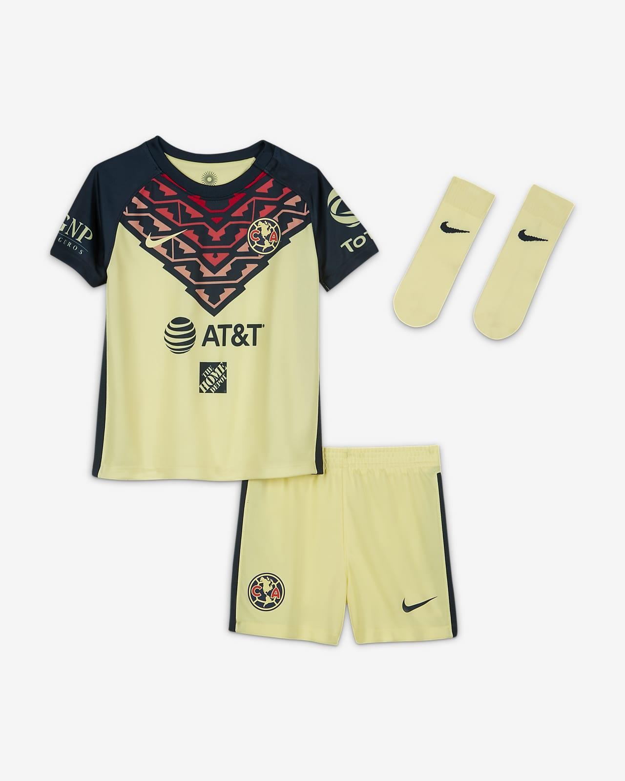 Kit de fútbol del Club América local 2021/22 para bebé e infantil
