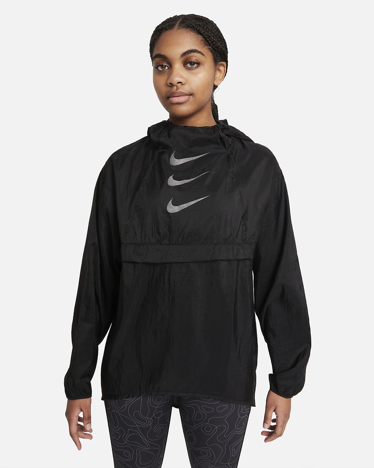 Sammenfoldelig Nike Run Division-løbejakke til kvinder