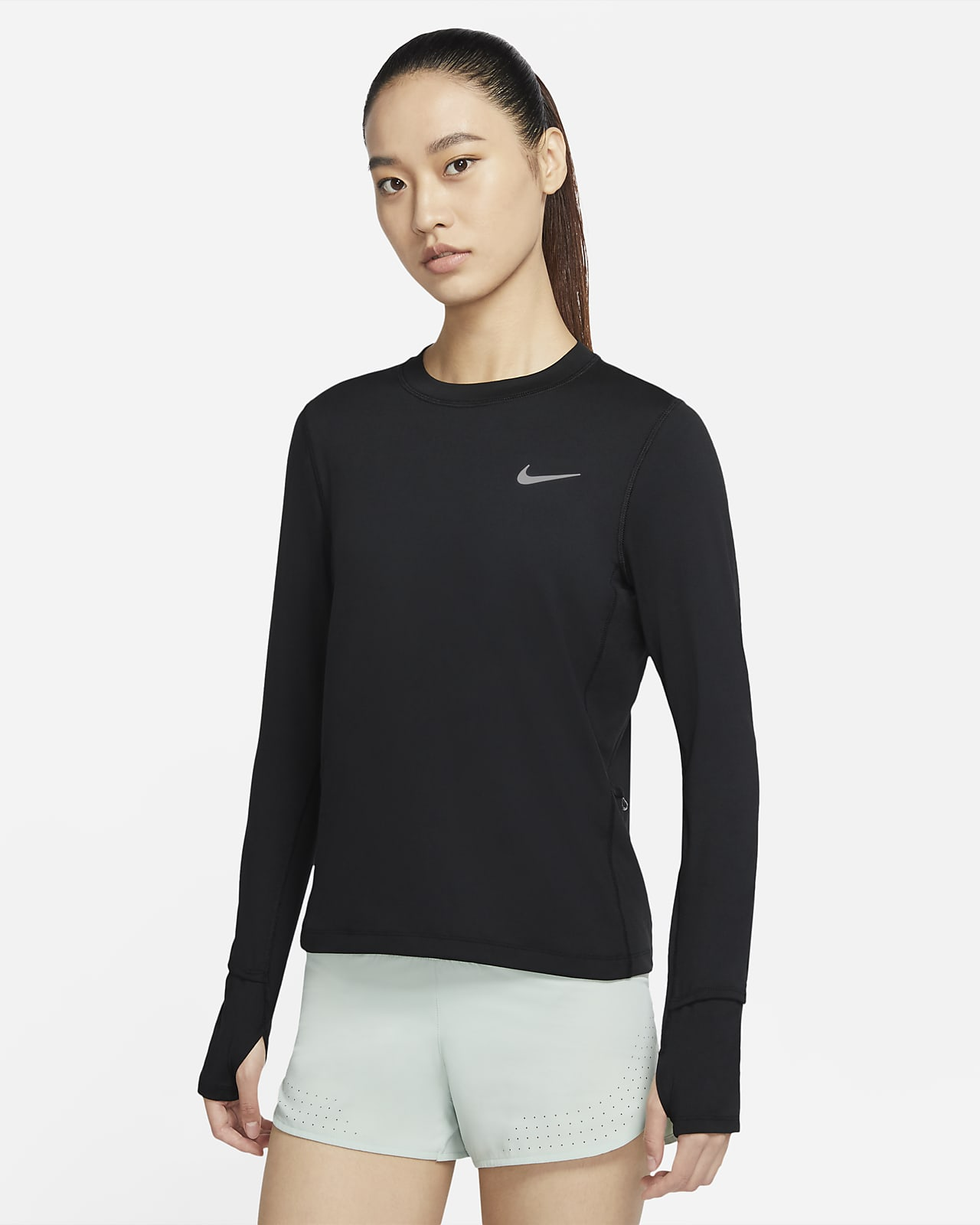 Nike 女子跑步圆领上衣
