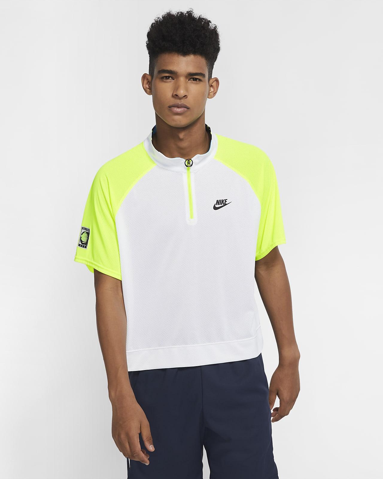 NikeCourt Slam 男款半長式拉鍊網球衫