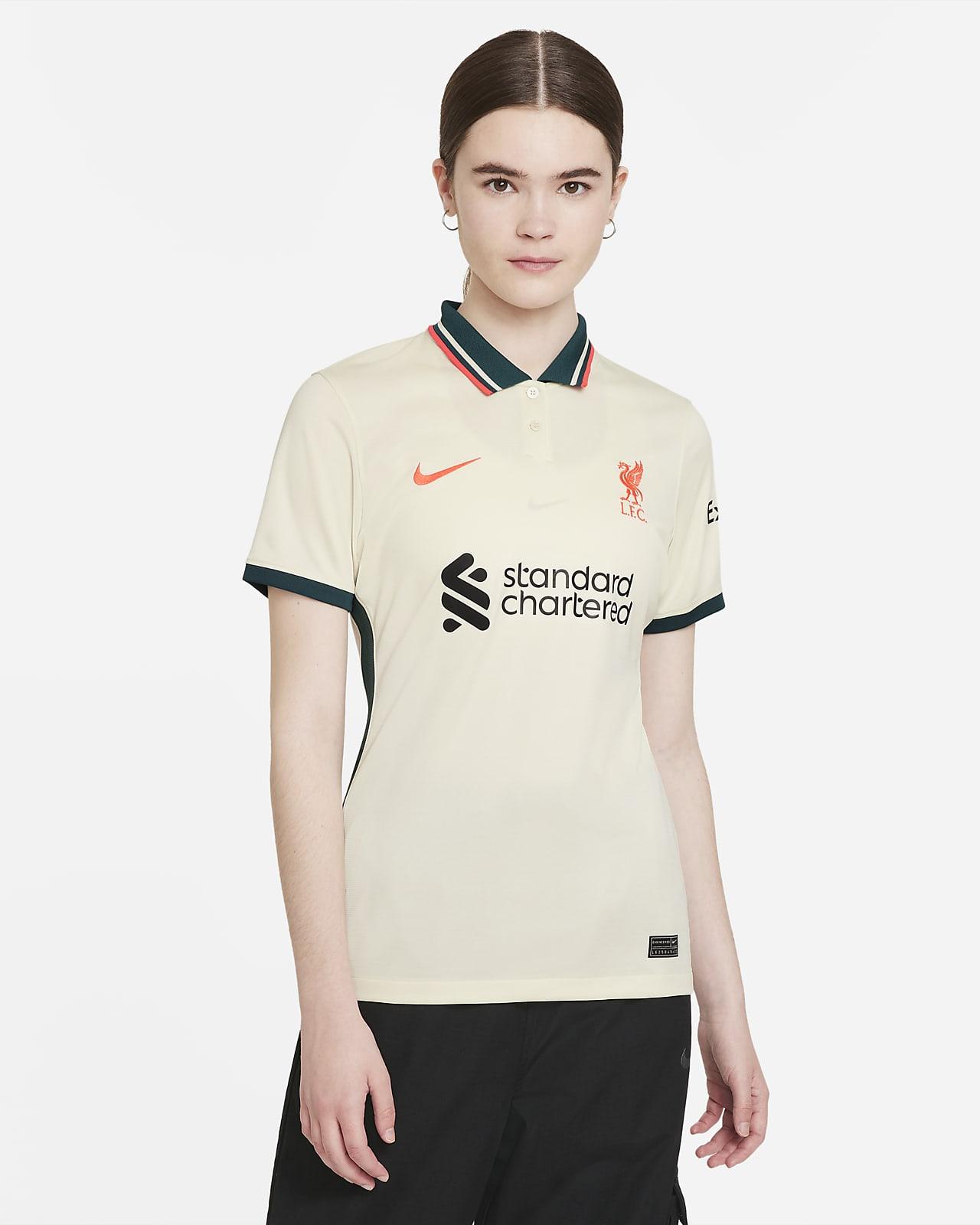 Женское футбольное джерси Nike Dri-FIT из выездной формы ФК «Ливерпуль» 2021/22 Stadium