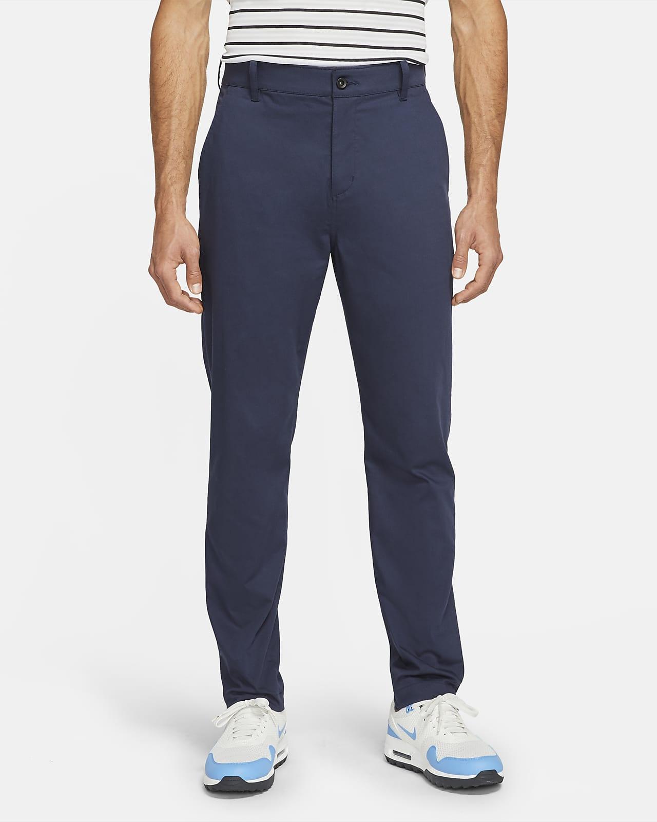 Calças de golfe de corte estreito estilo chino Nike Dri-FIT UV para homem