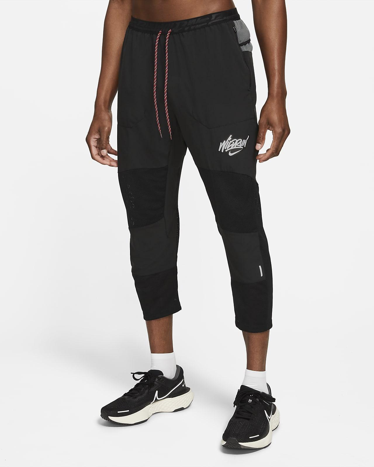 Nike Phenom Elite Wild Run 7/8 Dokuma Erkek Koşu Eşofman Altı