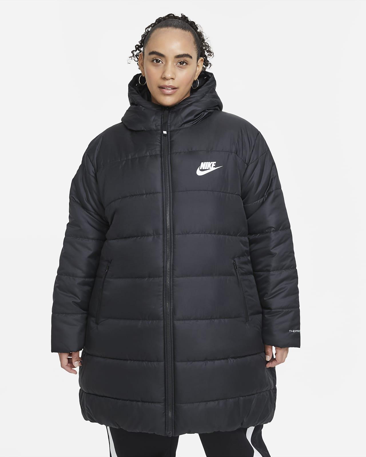 Parka con gorro para mujer Nike Sportswear Therma-FIT Repel (talla grande)