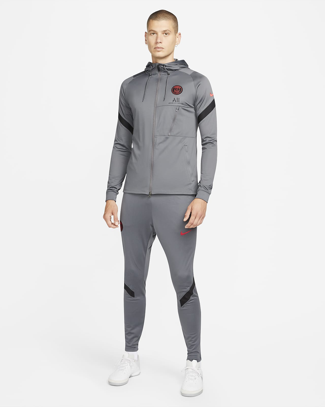 Męski dzianinowy dres piłkarski Paris Saint-Germain Strike Nike Dri-FIT
