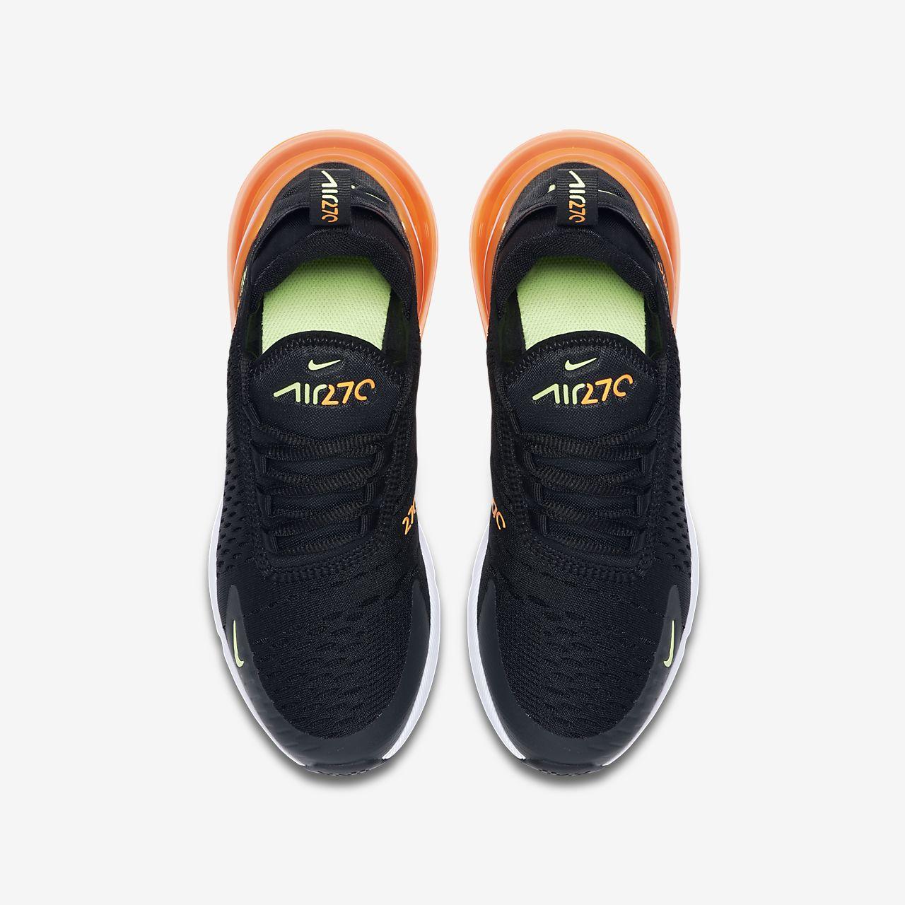 nike air max 270 black-ghost green-total orange