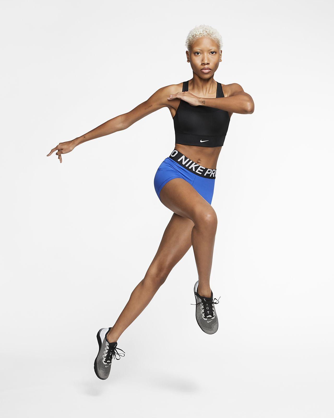 Nike Swoosh Sujetador deportivo de sujeción media con almohadilla de una sola pieza Mujer