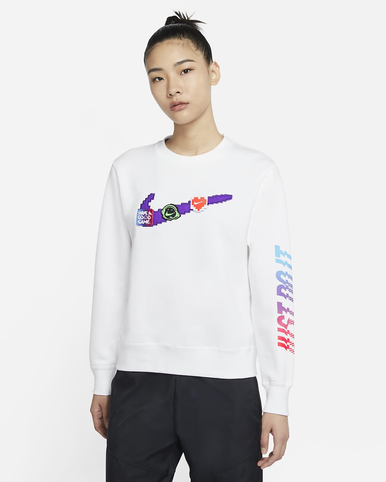 Nike Sportswear 女子起绒圆领上衣