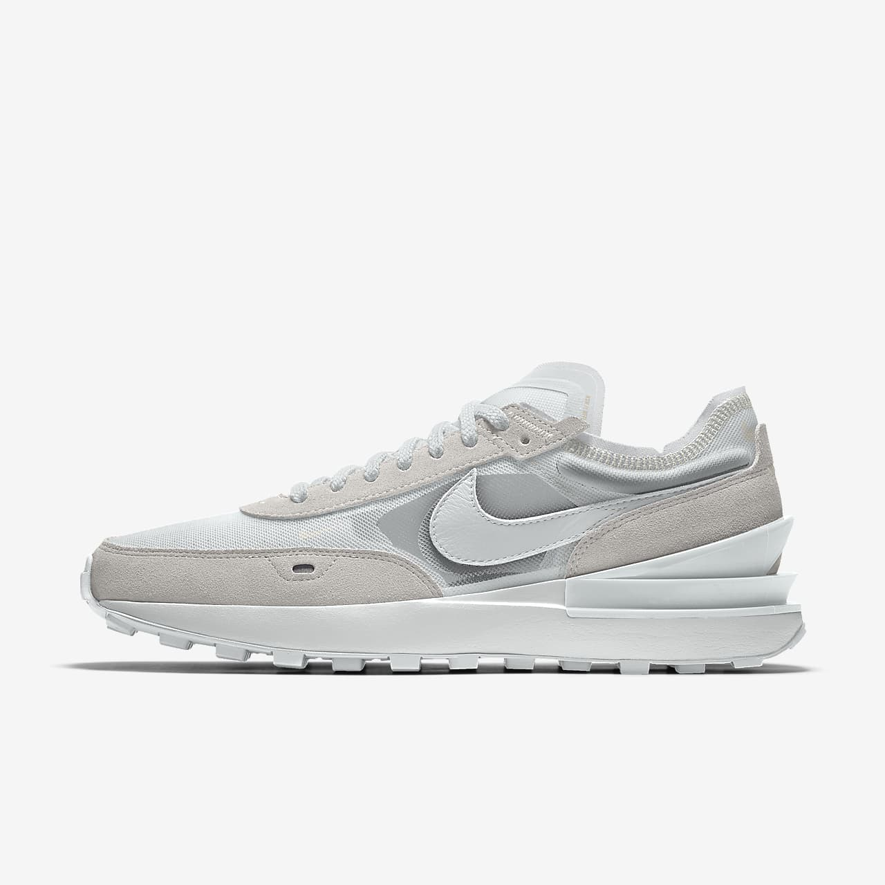 Chaussure personnalisable Nike Waffle1 By You pour Femme