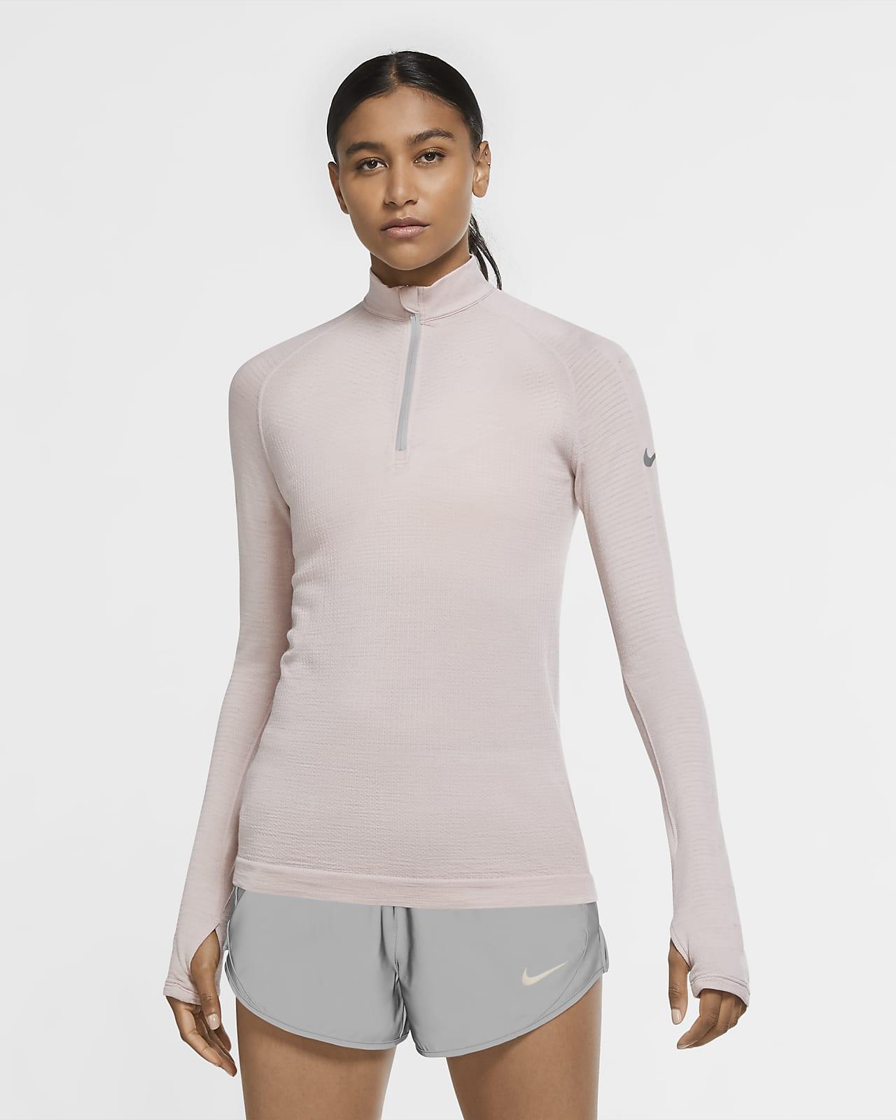 Haut de running en laine à demi-zip Nike Run Division pour Femme