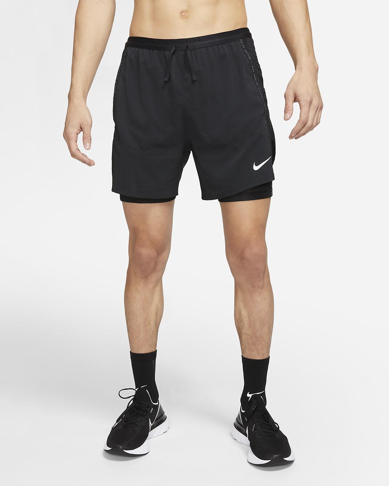 กางเกงวิ่งขาสั้นผู้ชายไฮบริด Nike Flex Stride Run Division