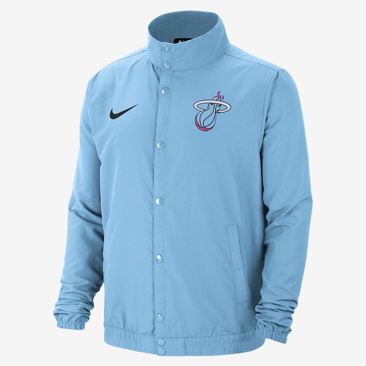 Heat Courtside City Edition Women's Nike NBA Snap Jacket