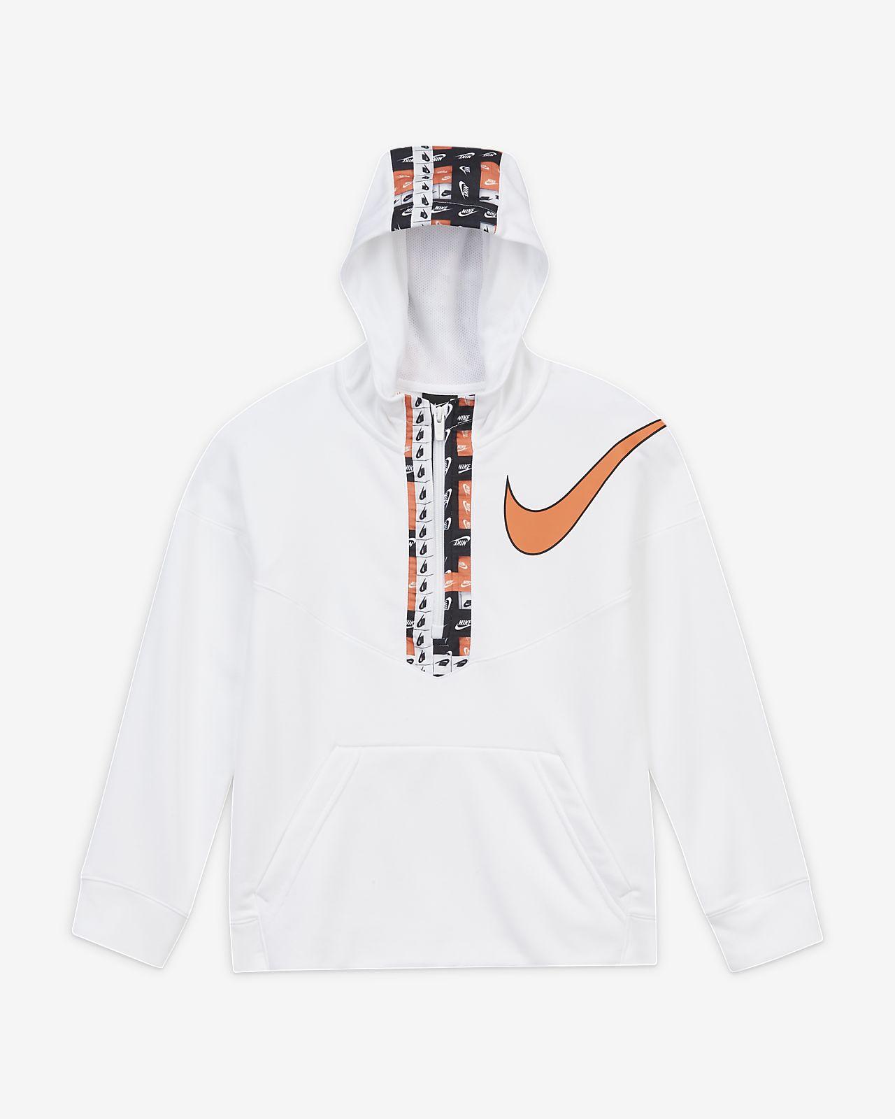 Sweat à capuche de training à demi-zip et motifs Nike Dri-FIT pour Garçon plus âgé