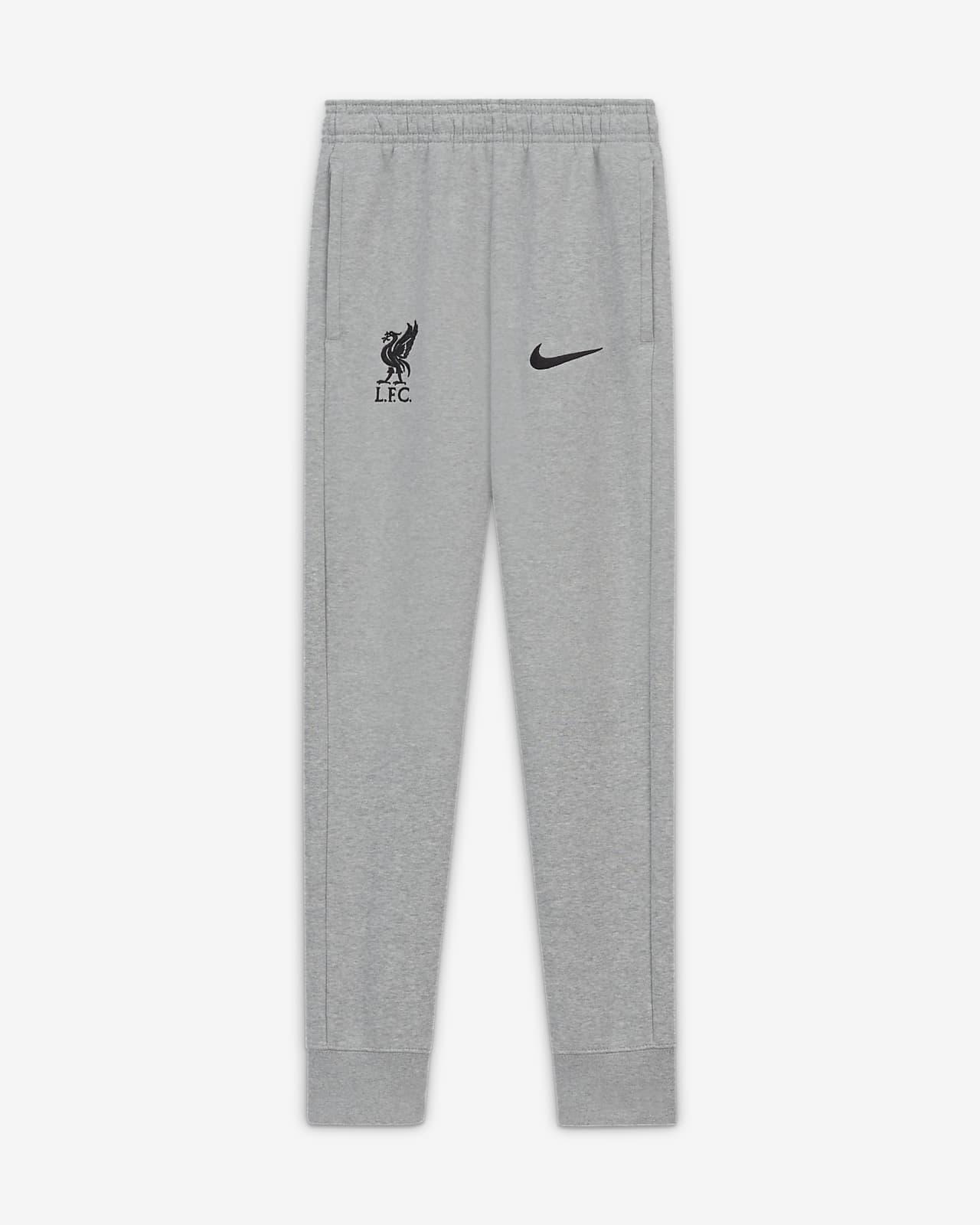 Fotbollsbyxor i fleece Liverpool FC för ungdom