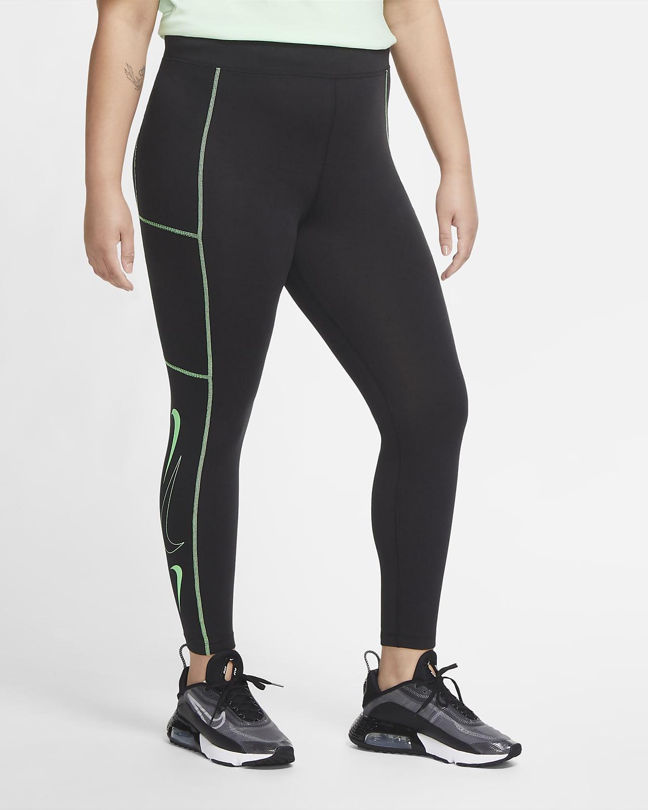 Nike Sportswear Swoosh Leggings de cintura alta (talles grans) - Dona