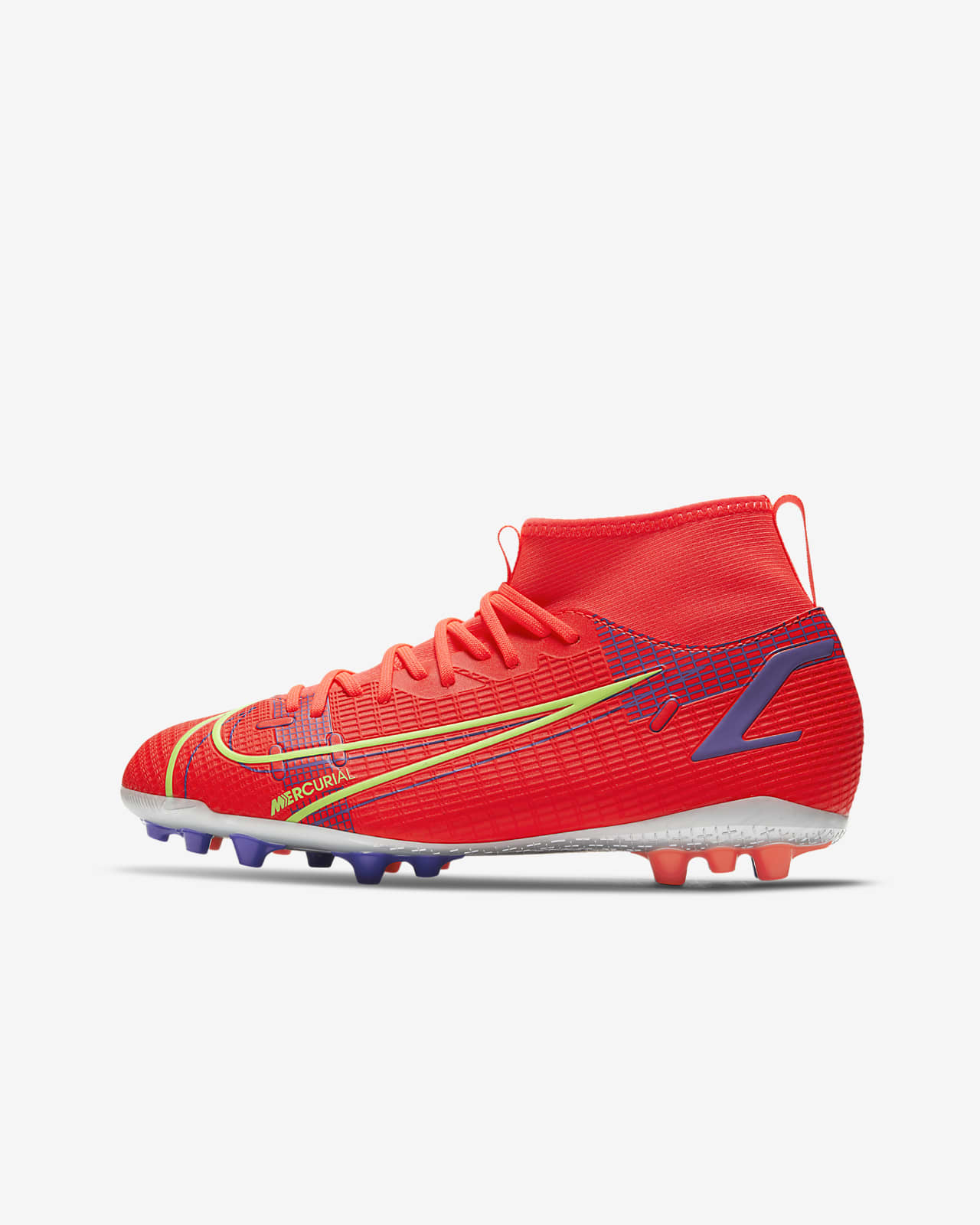 Nike Jr. Mercurial Superfly 8 Academy AG Younger/Older Kids' Artificial-Grass Football Boot