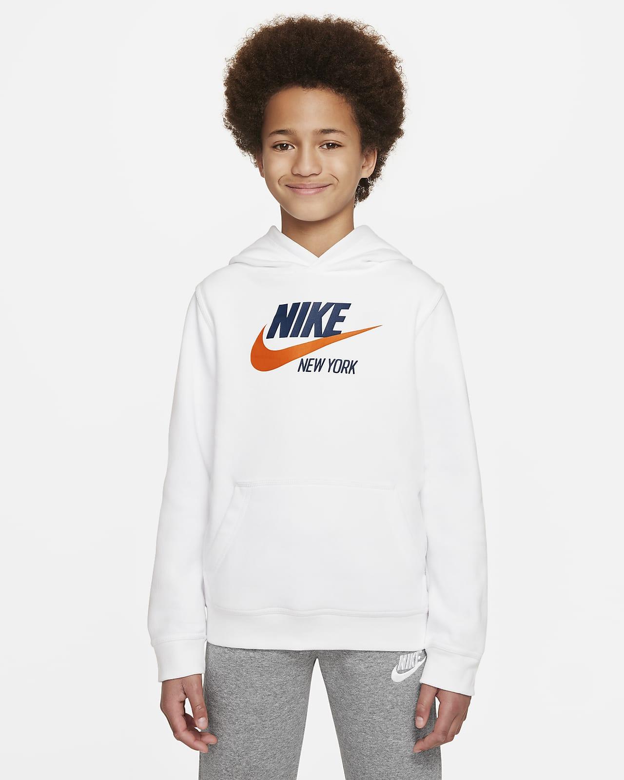 Nike Sportswear Club Fleece New York Big Kids' Pullover Hoodie