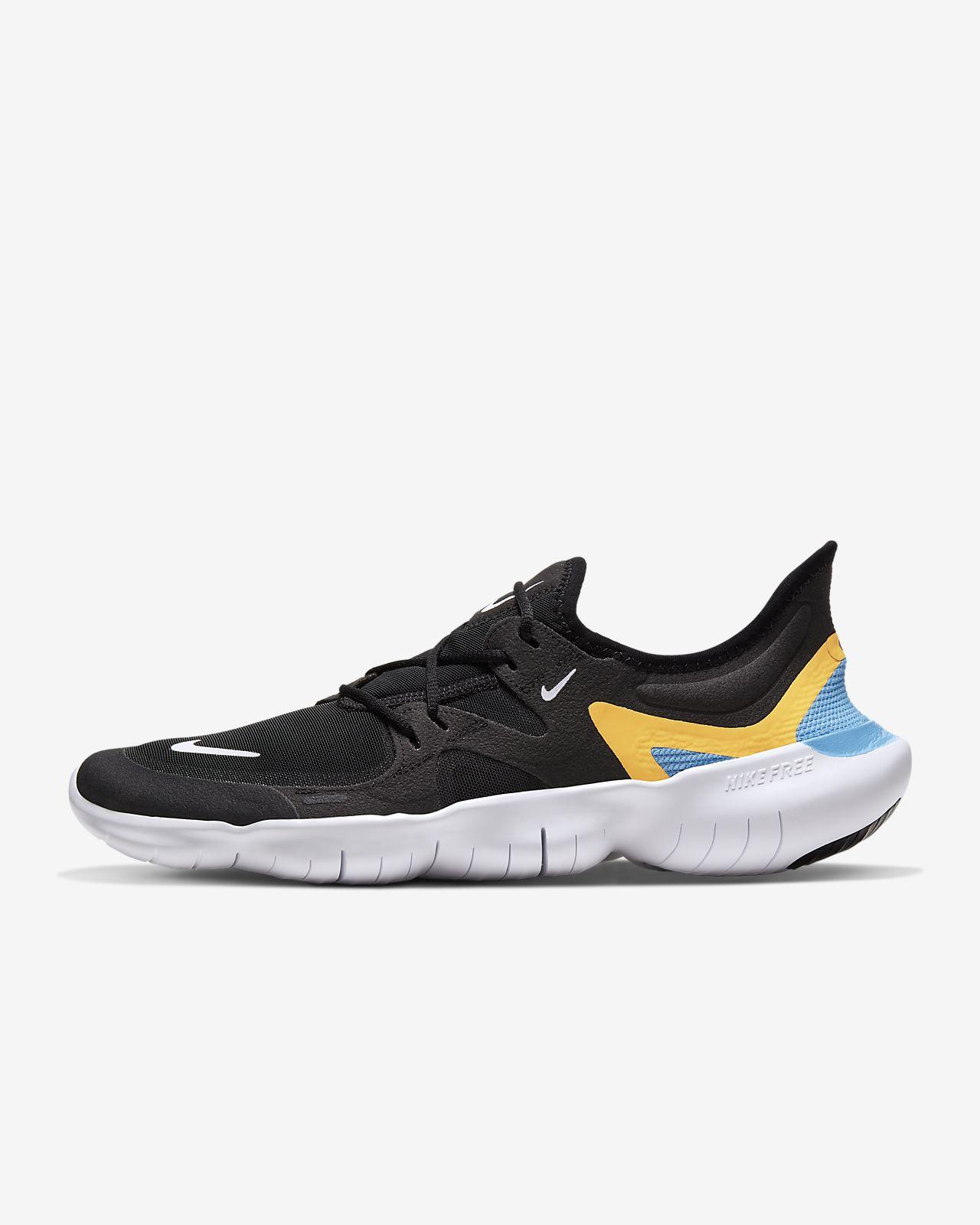 NIKE Herren Lauf-Freizeit-Schuhe NIKE FREE RN 5.0 schwarz weiss AQ1289 003