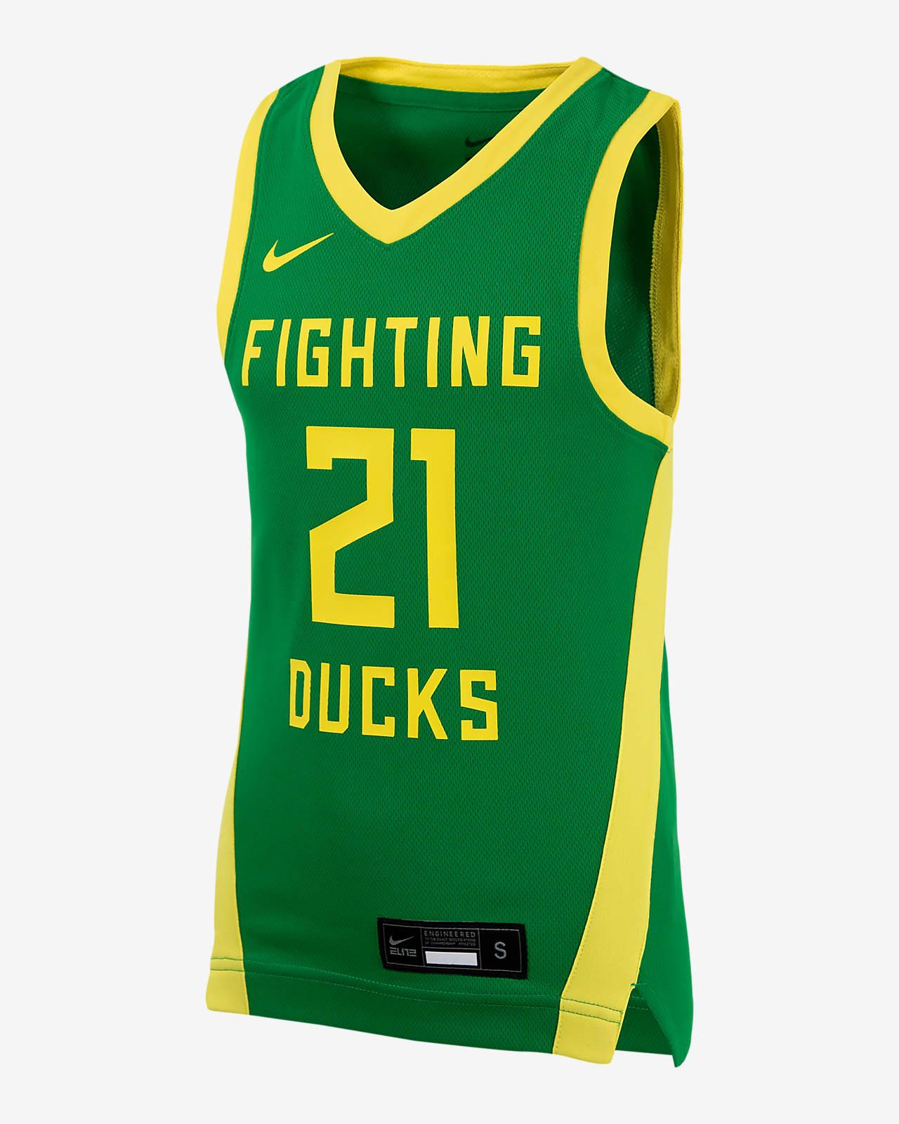 Camiseta de baloncesto para niños talla grande Nike College (Oregon)