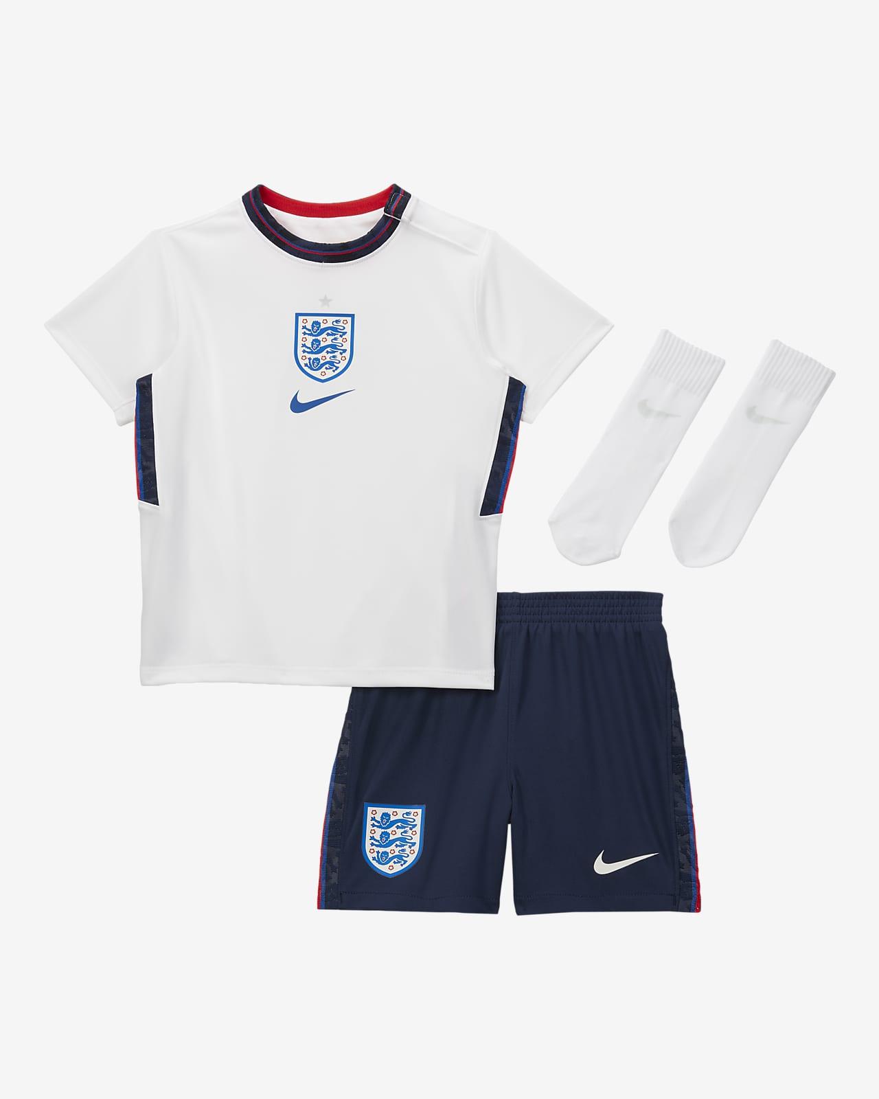 England 2020 (hjemmedrakt) fotballsett til sped-/småbarn
