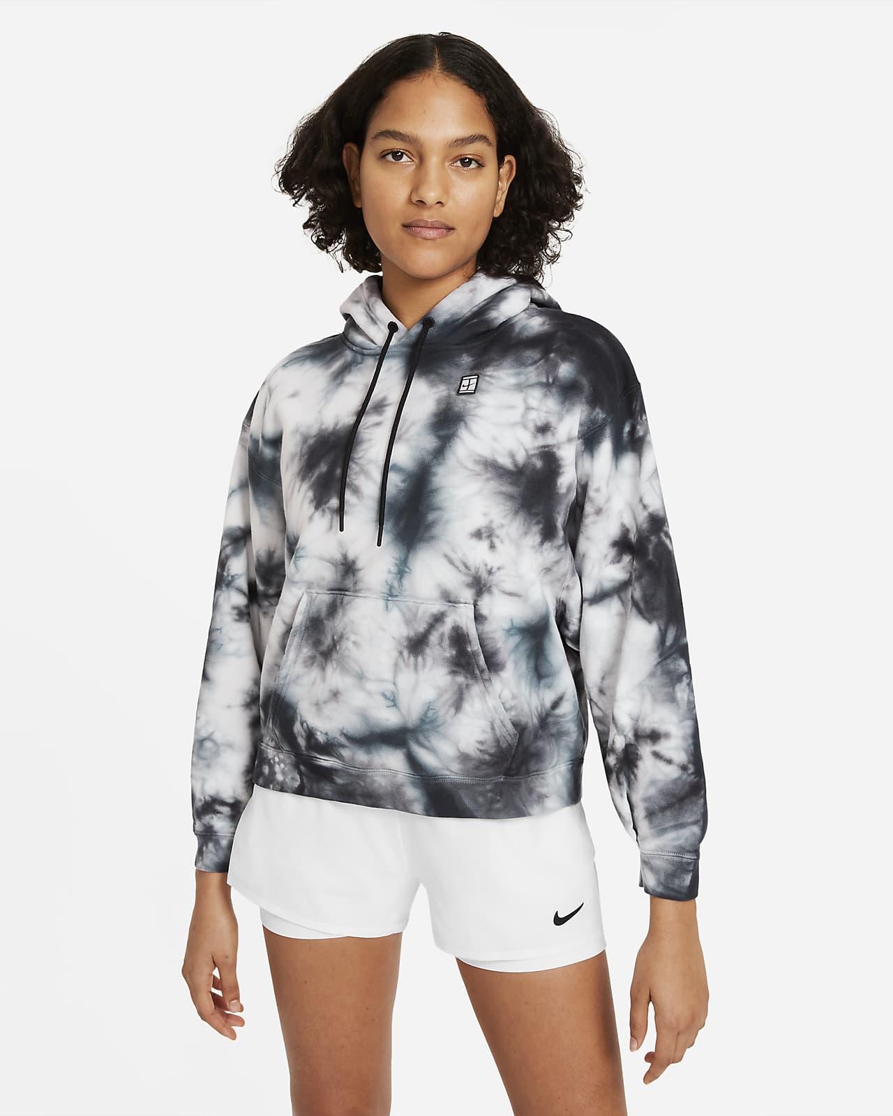 Sweat à capuche de tennis à motif tie-dye NikeCourt pour Femme