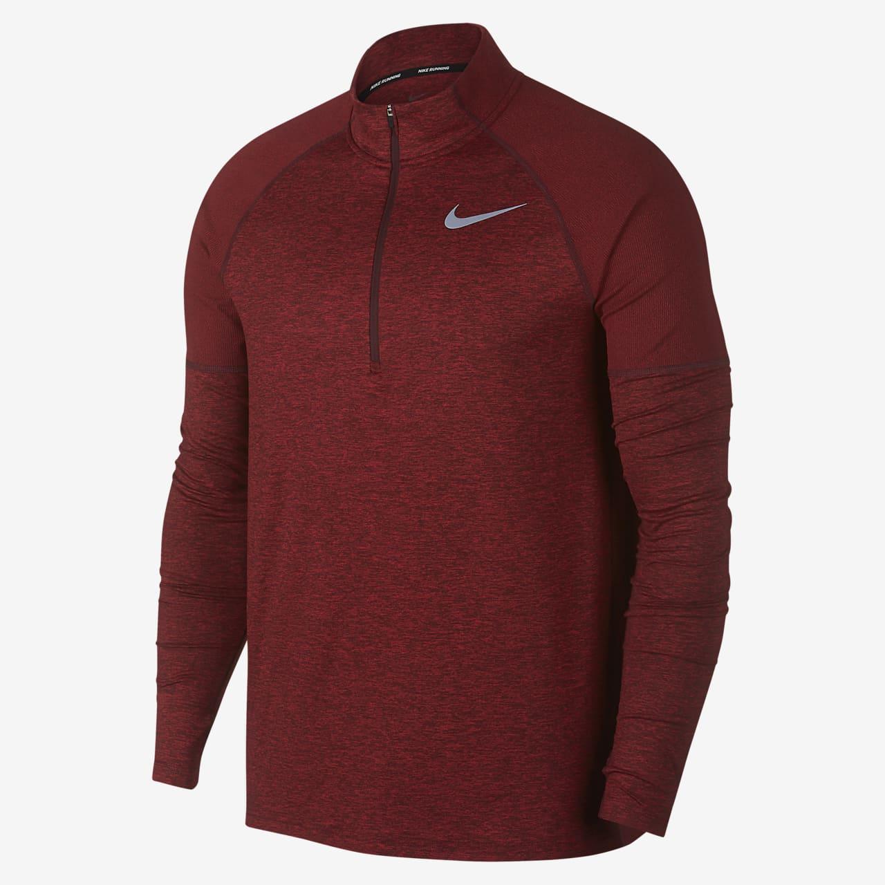 Ανδρική μπλούζα για τρέξιμο με φερμουάρ στο μισό μήκος Nike