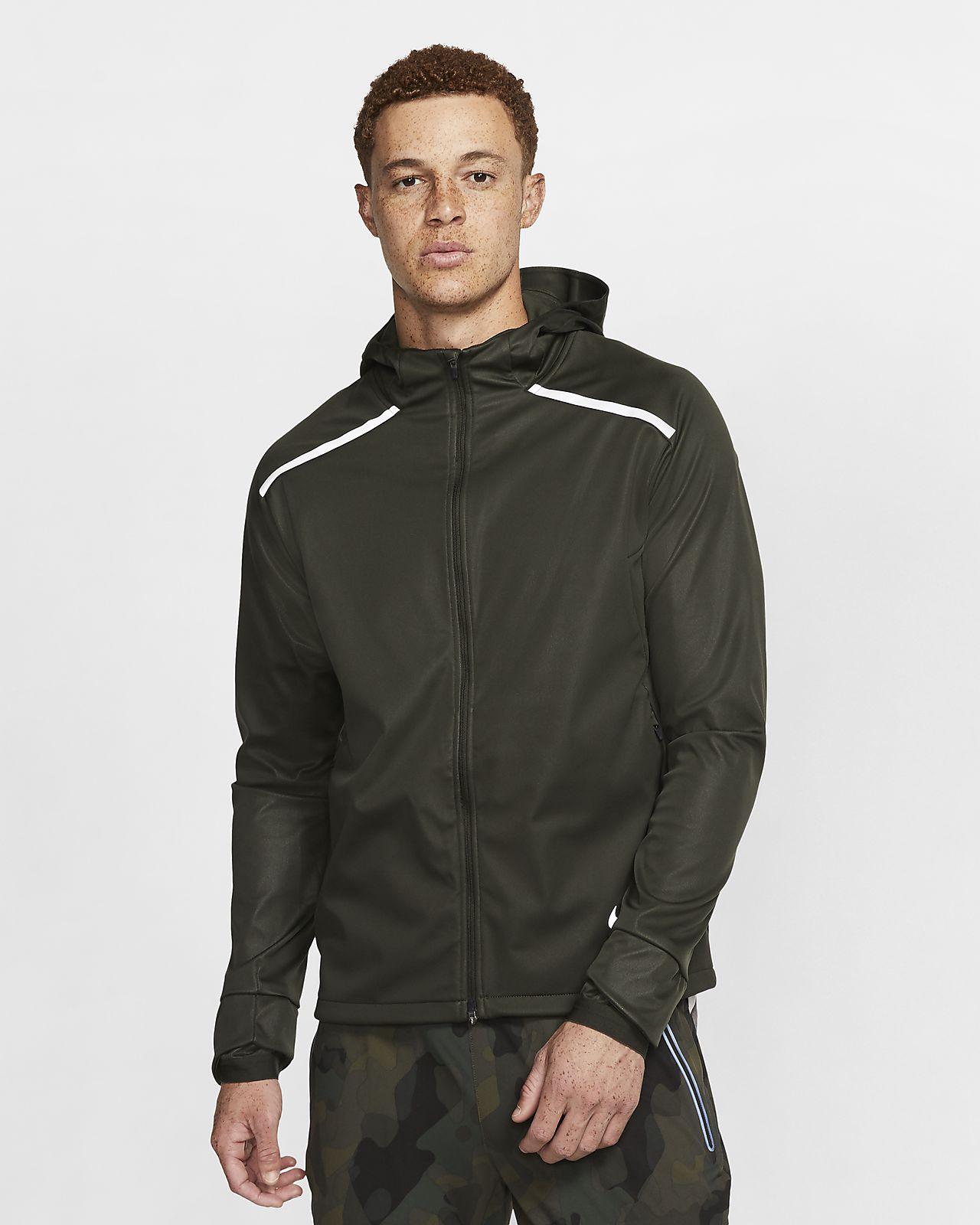 Nike Shield 男子连帽跑步夹克