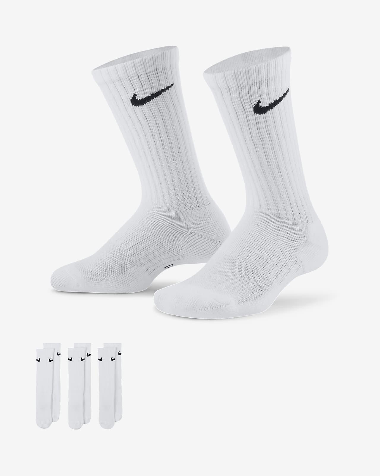 Meias Nike Everyday Cushioned para criança (3 pares)