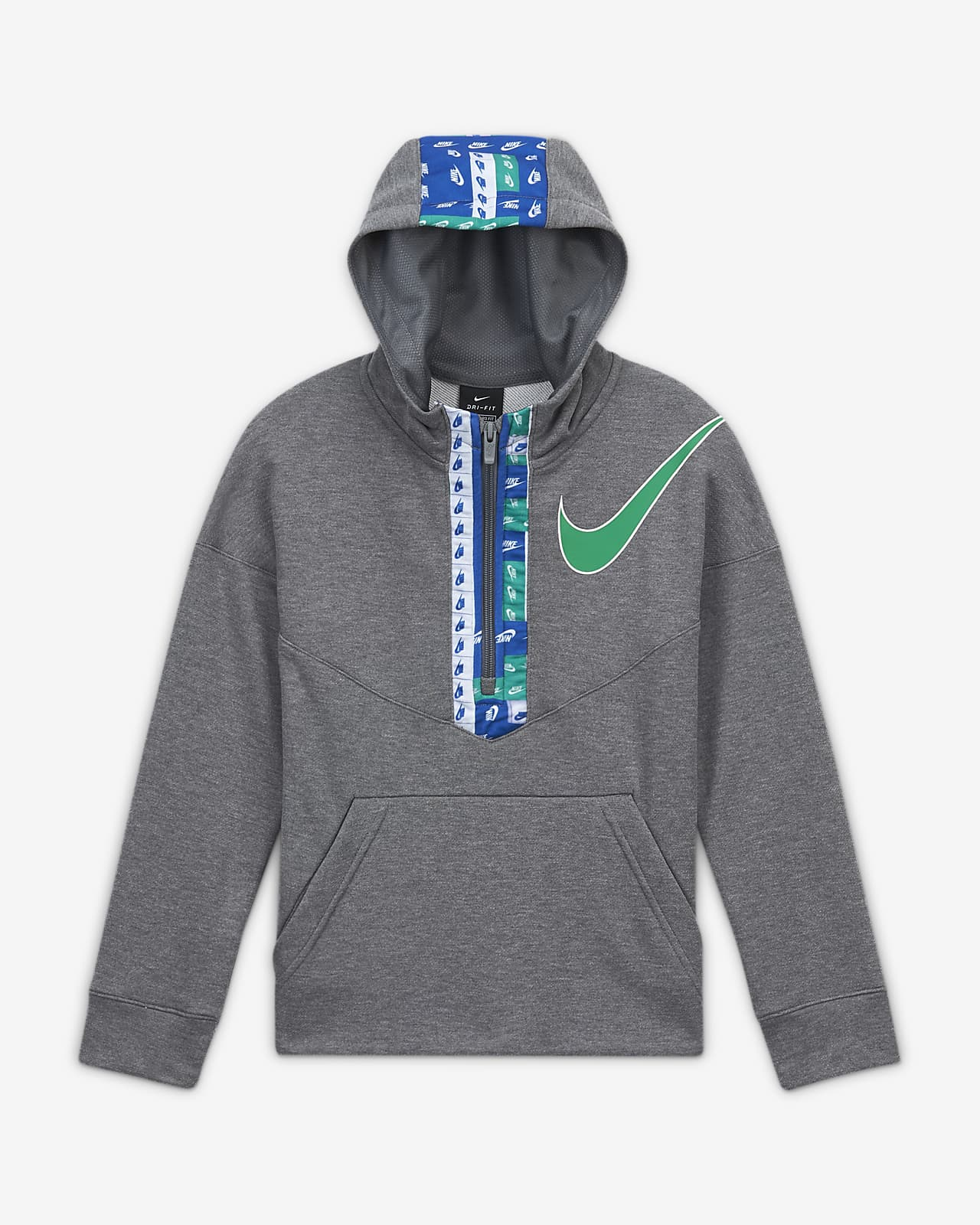 Nike Dri-FIT Big Kids' (Boys') Graphic Half-Zip Training Hoodie