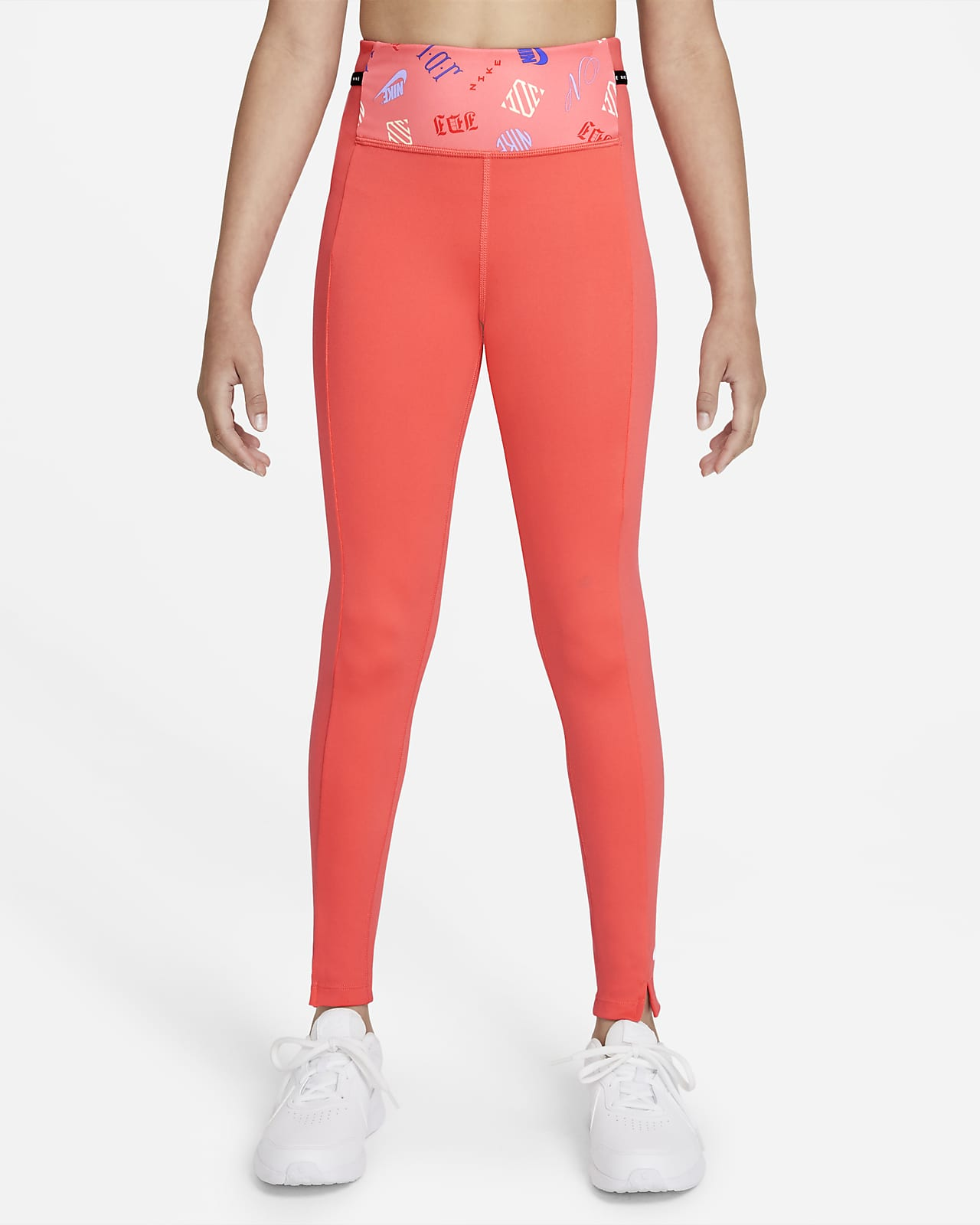 Nike Dri-FIT One Luxe 大童 (女童) 印製圖樣內搭褲