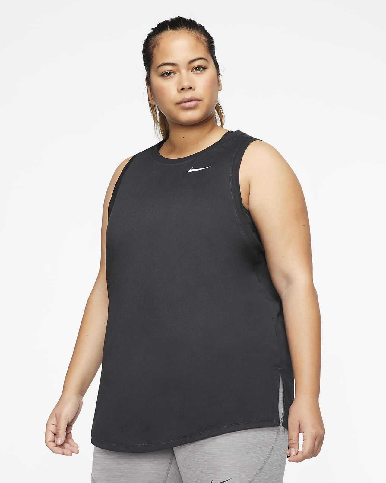 Camiseta de tirantes de entrenamiento para mujer Swoosh Nike Dri-FIT (talla grande)