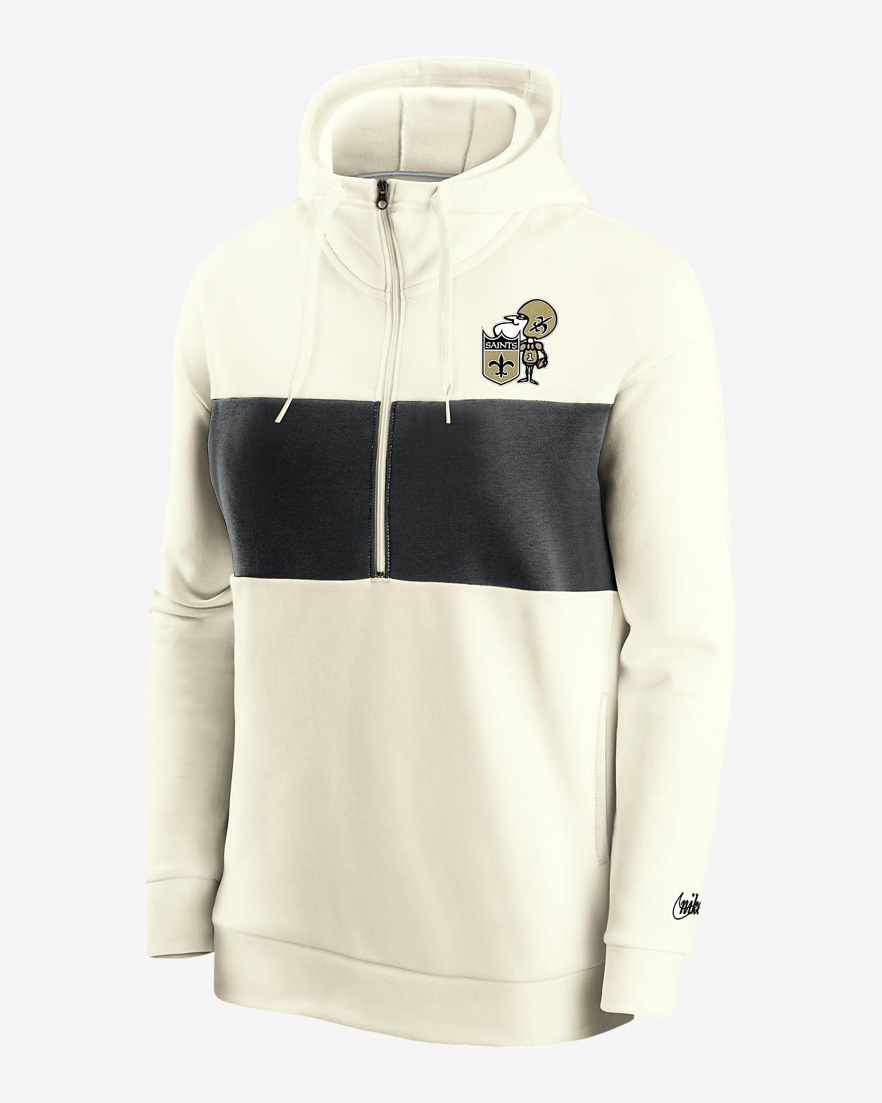 Nike Historic (NFL Saints) Women's 1/2-Zip Fleece Pullover