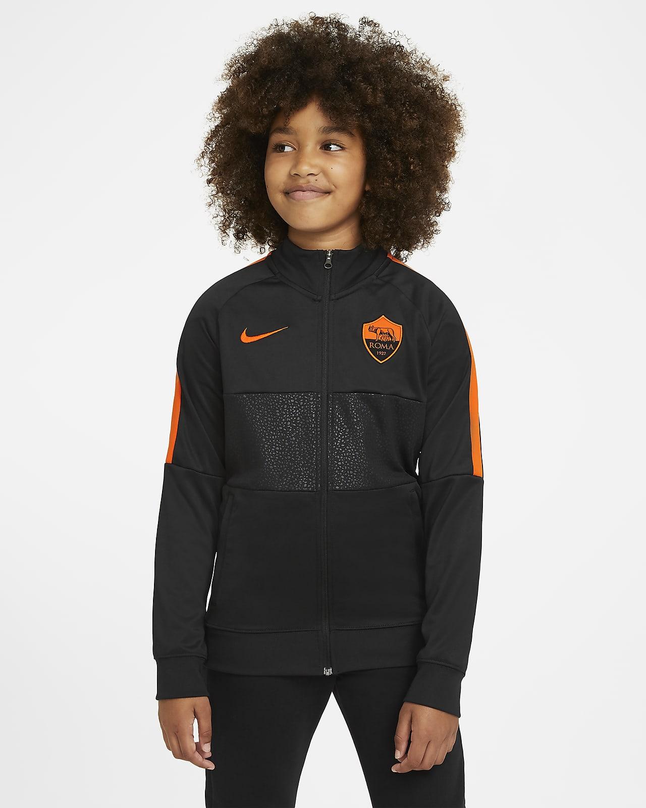AS Roma Kids' Football Tracksuit Jacket