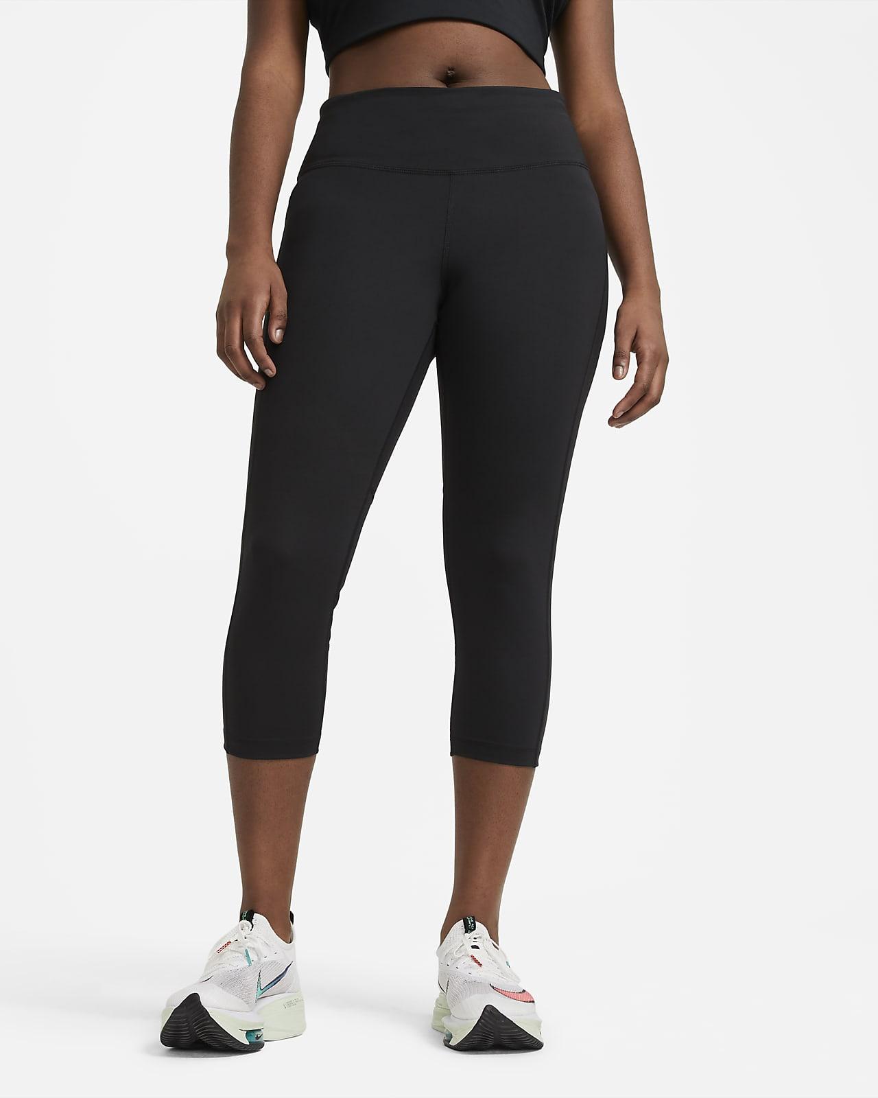 Legging de running court à taille mi-basse Nike Fast pour Femme (grande taille)