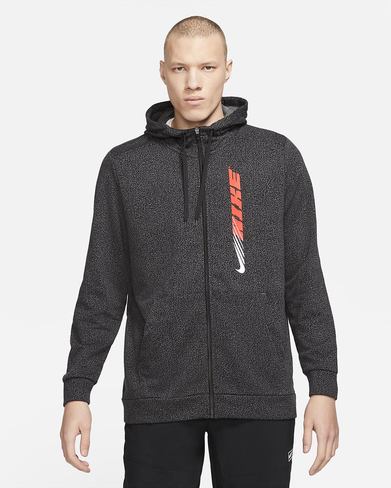Hoodie de treino estampado com fecho completo Nike Dri-FIT Sport Clash para homem