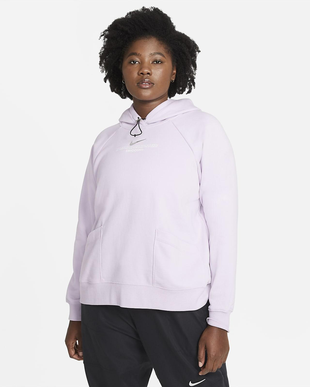Nike Sportswear Swoosh-hættetrøje til kvinder (plus size)
