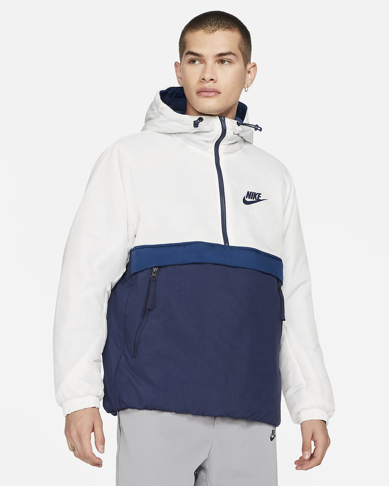 Nike Sportswear Synthetic-Fill Men's 1/2-Zip Hooded Jacket