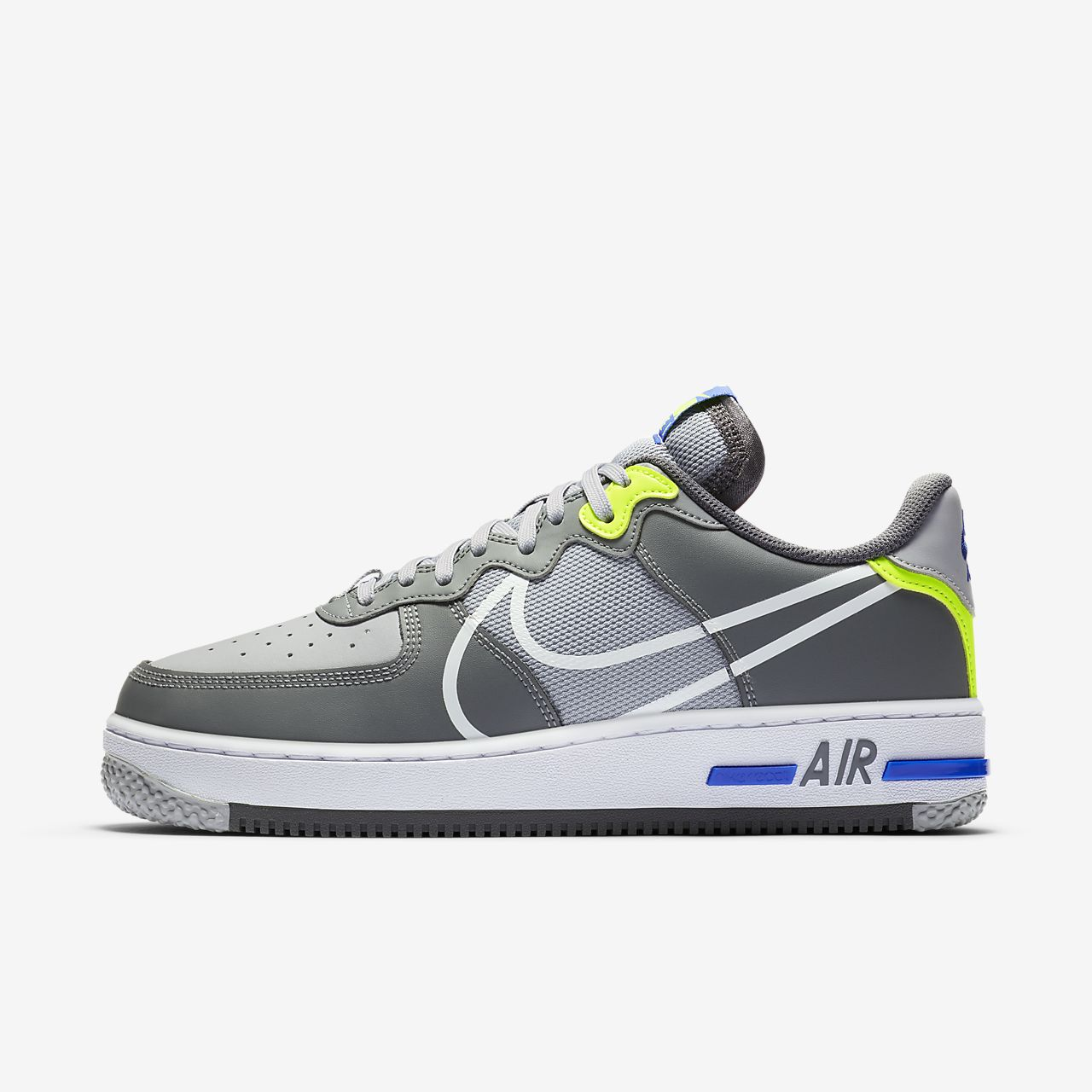 nike air force män låg vit