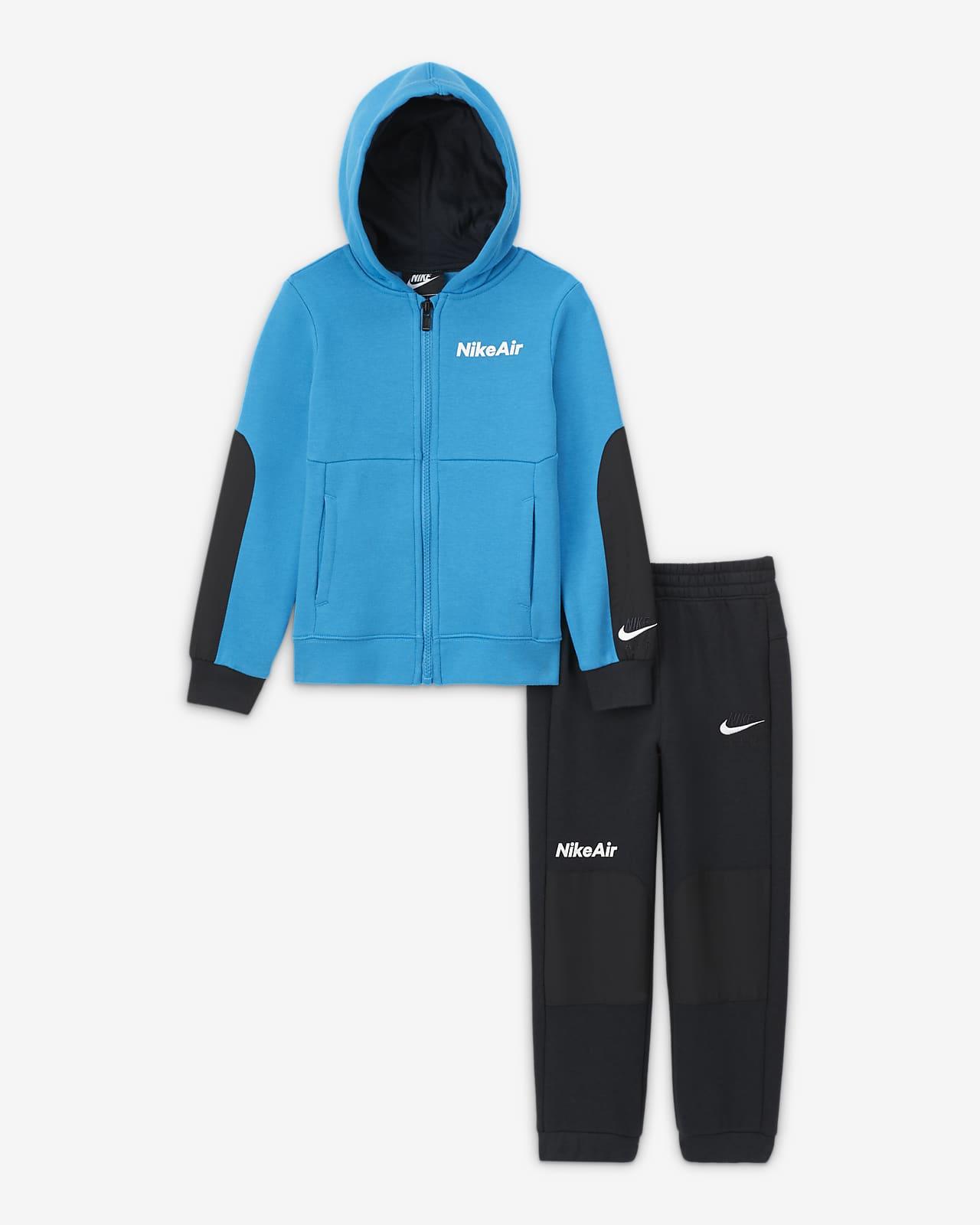 Σετ μπλούζα με κουκούλα και φερμουάρ και παντελόνι Nike Air για νήπια