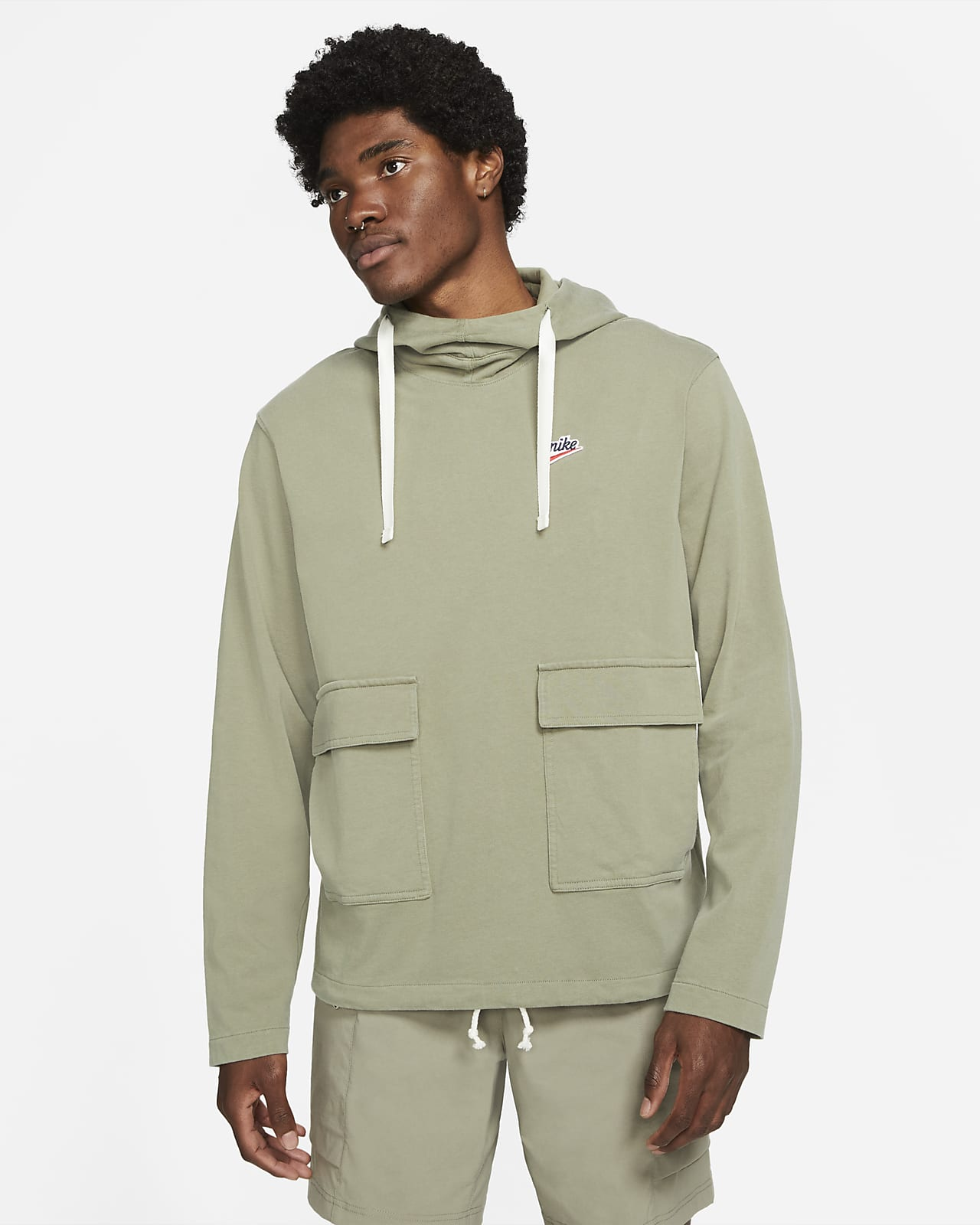 Мужская худи из трикотажа Nike Sportswear Heritage Essentials