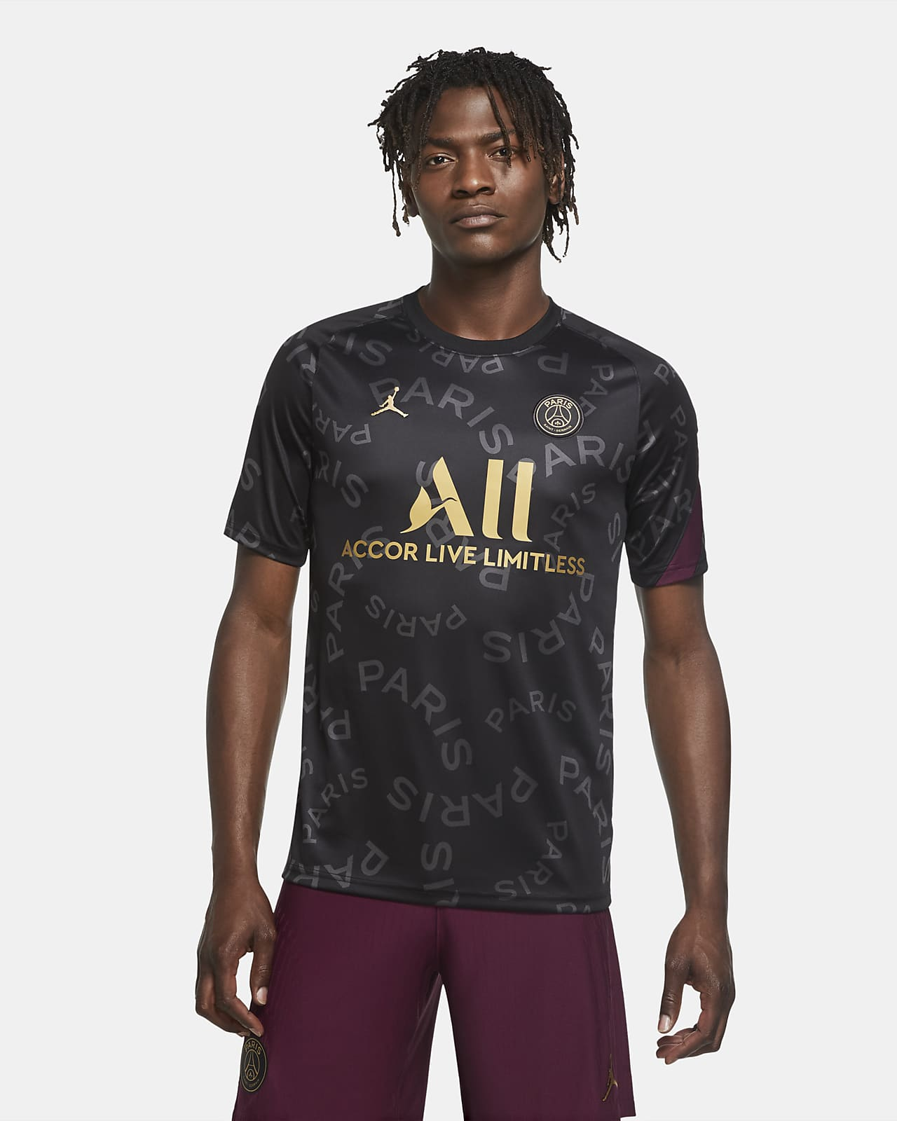 Paris Saint-Germain 男款預賽短袖足球上衣