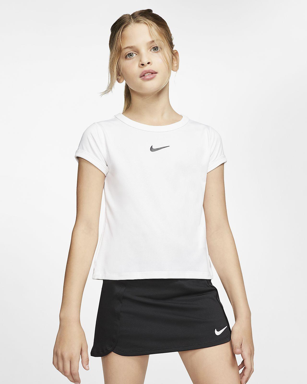 Prenda para la parte superior de tenis para niña NikeCourt Dri-FIT